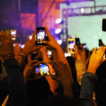 cell phones at concert