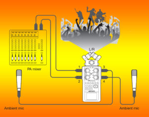 example audio recording schematic